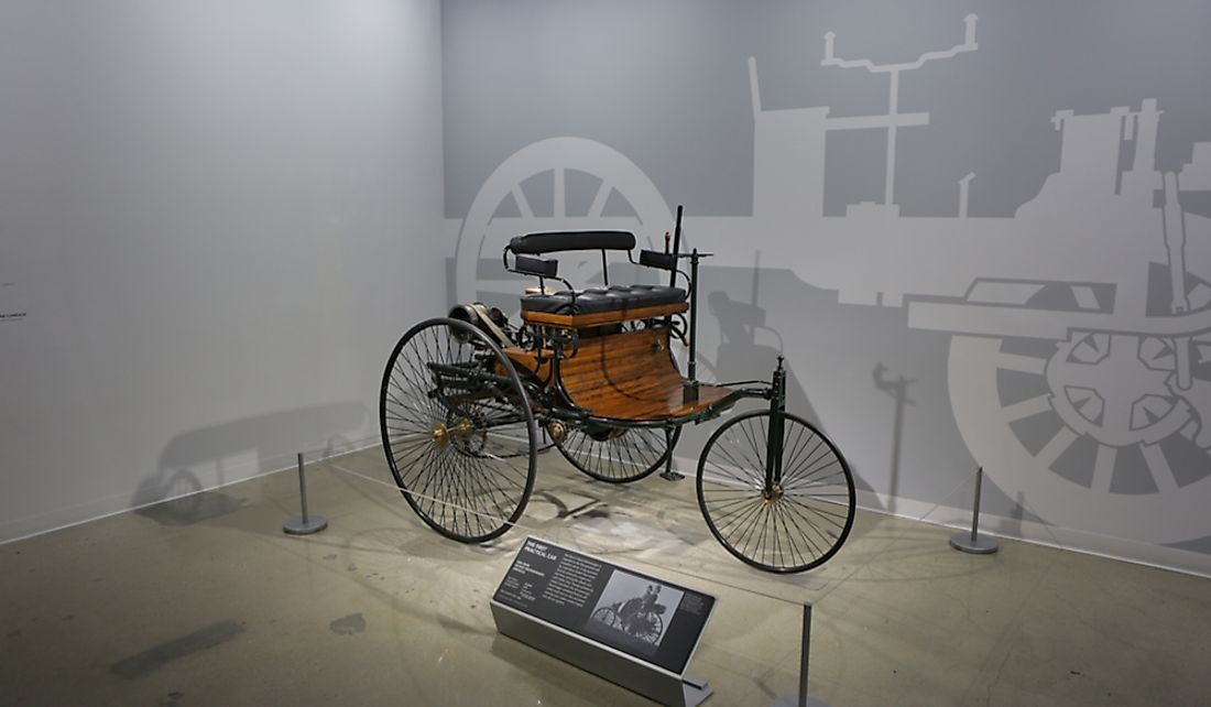 The Benz Patent Motorwagen is considered the world's first automobile. Editorial credit: XRISTOFOROV / Shutterstock.com