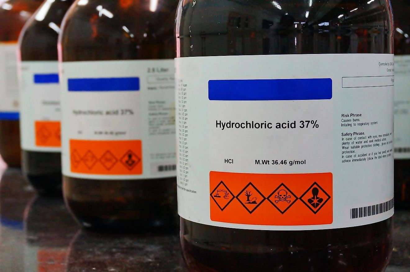 Muriatic acid is a strong corrosive acid that has a distinctive smell.