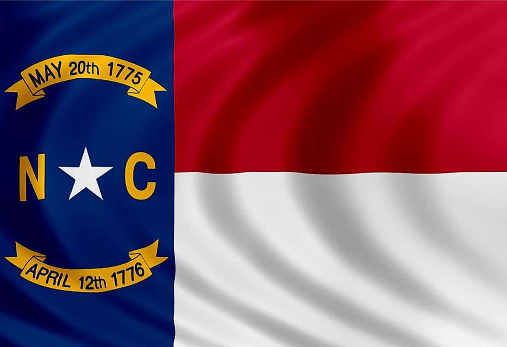 The state flag of North Carolina.