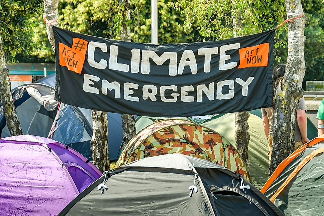 Protests calling for a climate emergency in Cardiff, Wales. Editorial credit: Ceri Breeze / Shutterstock.com.