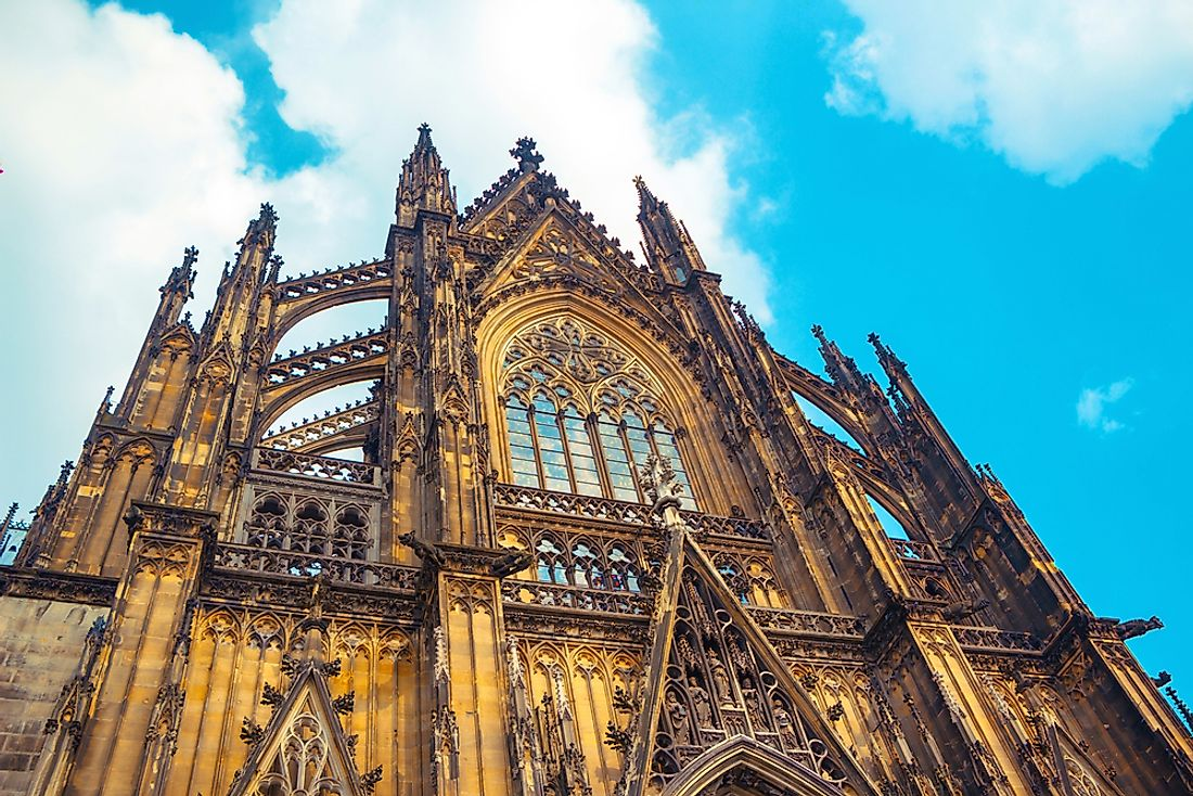 The Cologne cathedral is an example of famous gothic architecture.