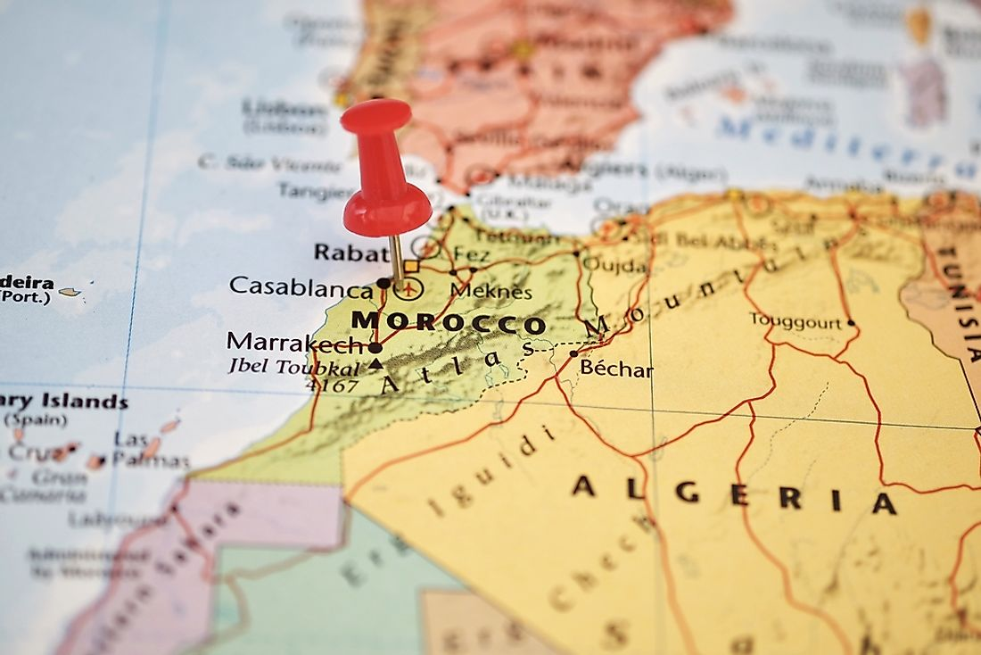 Morocco's location on a map.