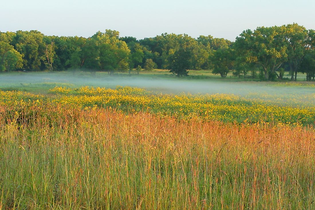 Homestead National Monument covers about 211 acres of land.