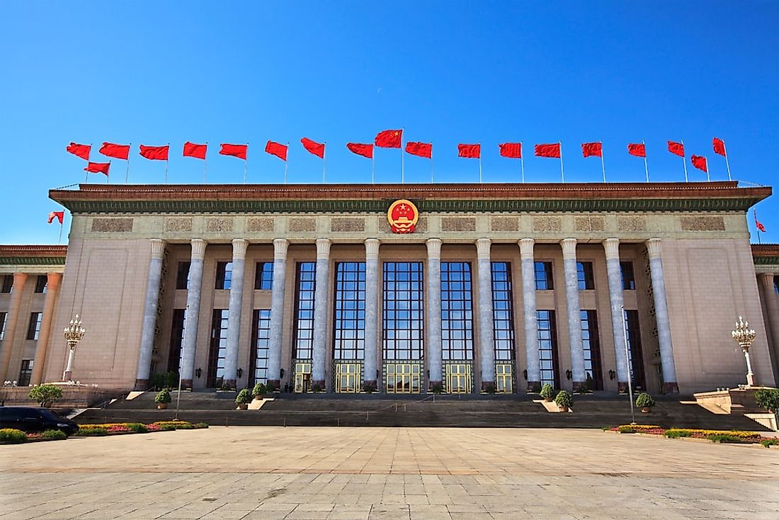 The Great Hall of the People in Beijing.