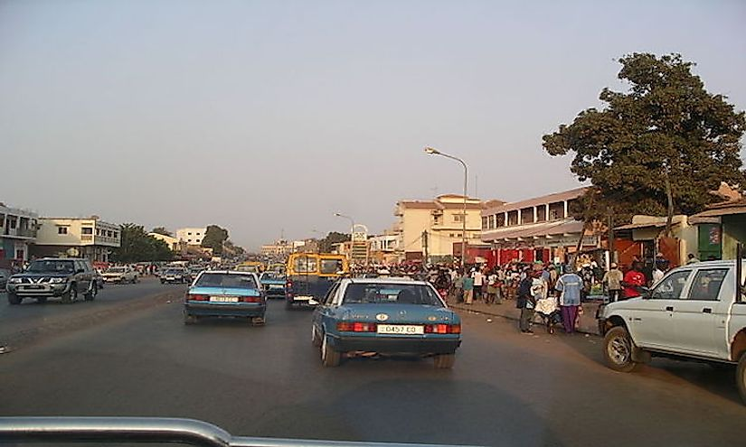A scene from downtown Bissau.