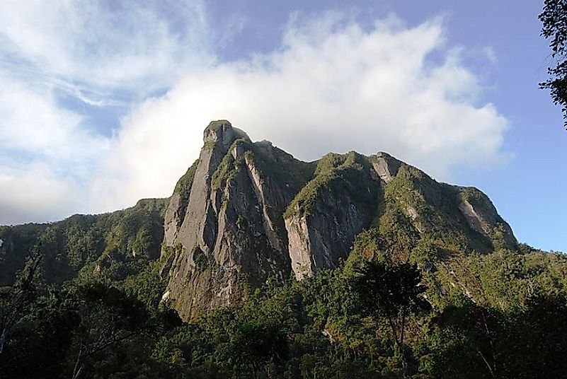 Steep cliffs and massifs are in abundance in Madagascar's Marojejy National Park.