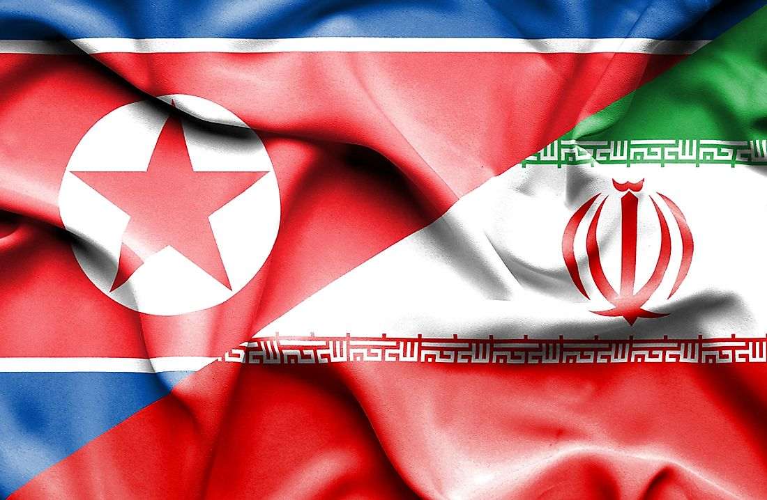 "Both North Korea and Iran are considered to be ""rogue states"" by the United States."