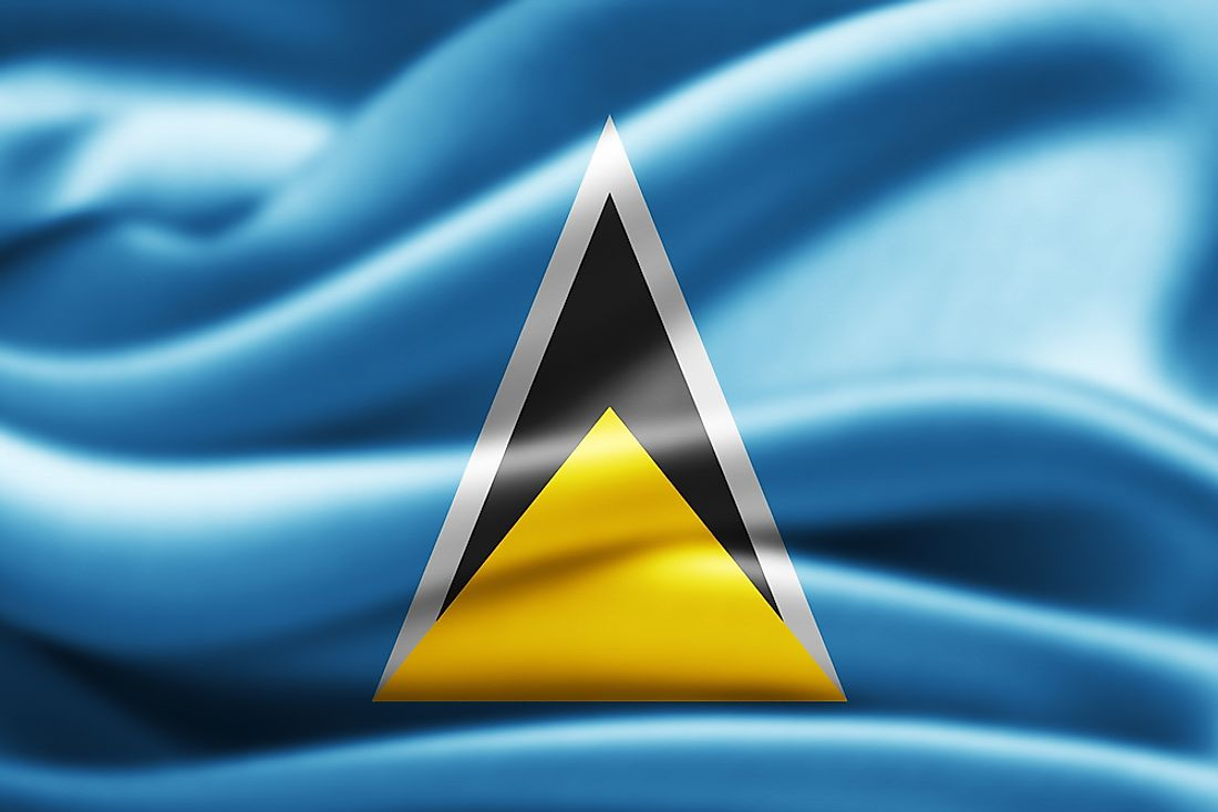 The flag of Saint Lucia.