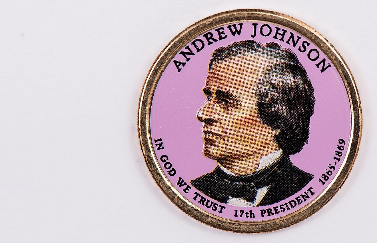 Andrew Johnson Presidential Dollar.