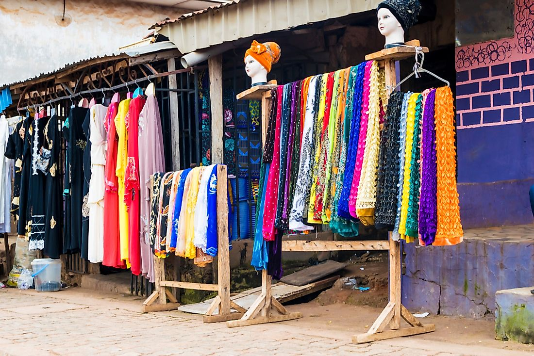 Clothing for sale in Nigeria.