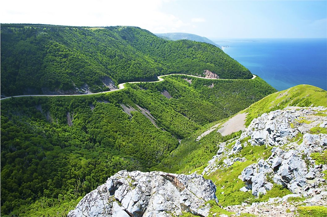 The Cabot Trail in Cape Breton Highlands National Park.