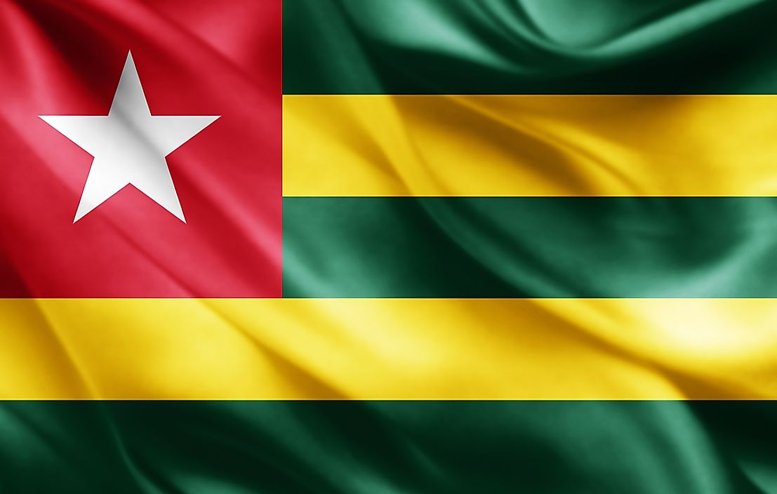 The flag of Togo.