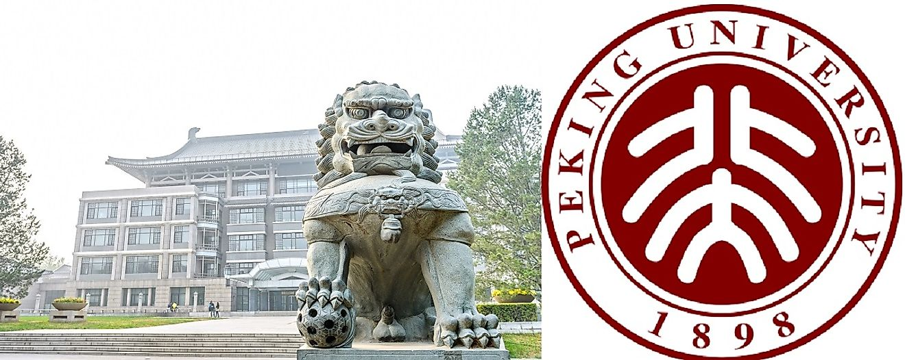 Guardian lions are iconic symbols of the Peking University campus.