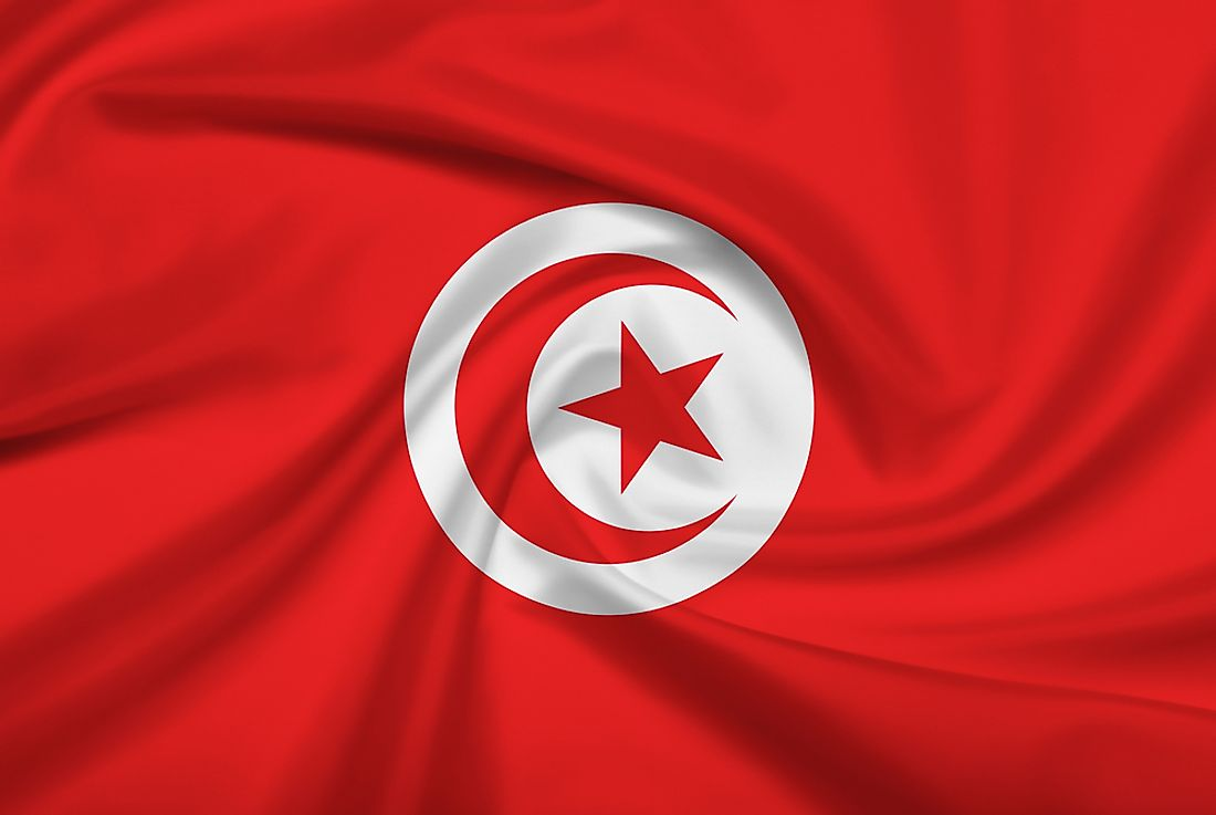 The official flag of Tunisia.