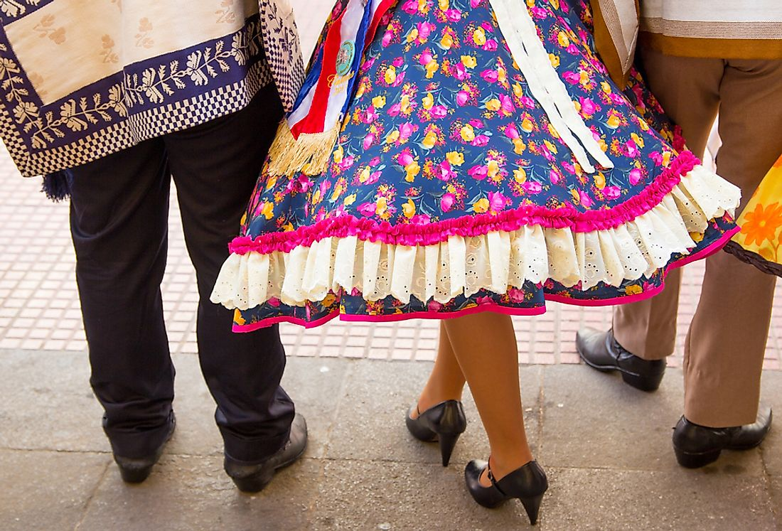 Traditional Chilean dancers.