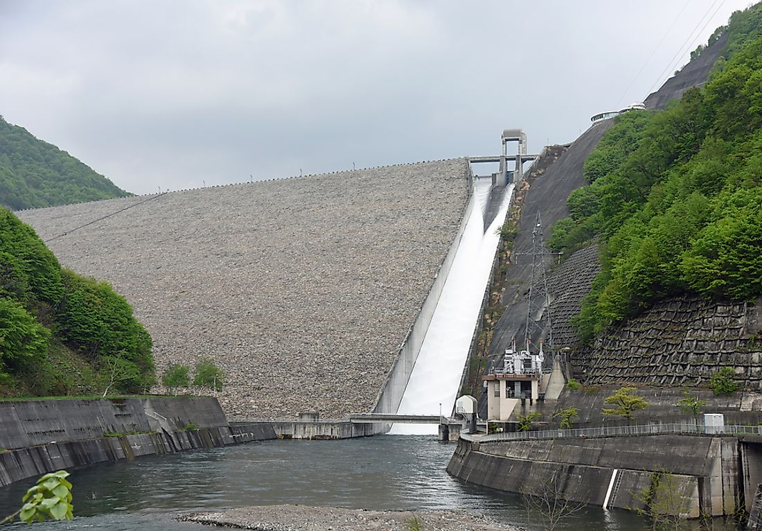 The Naramata Dam in Japan.