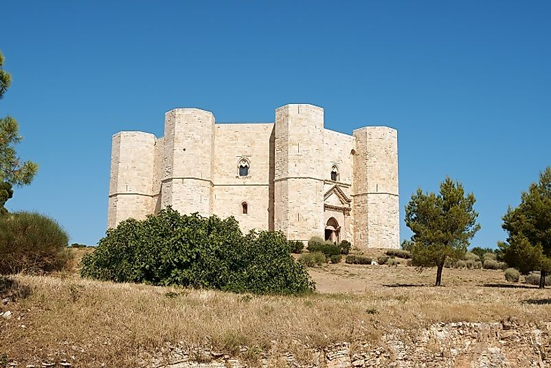 Castel del Monte near the city of Andria in the Apulia region of Italy.