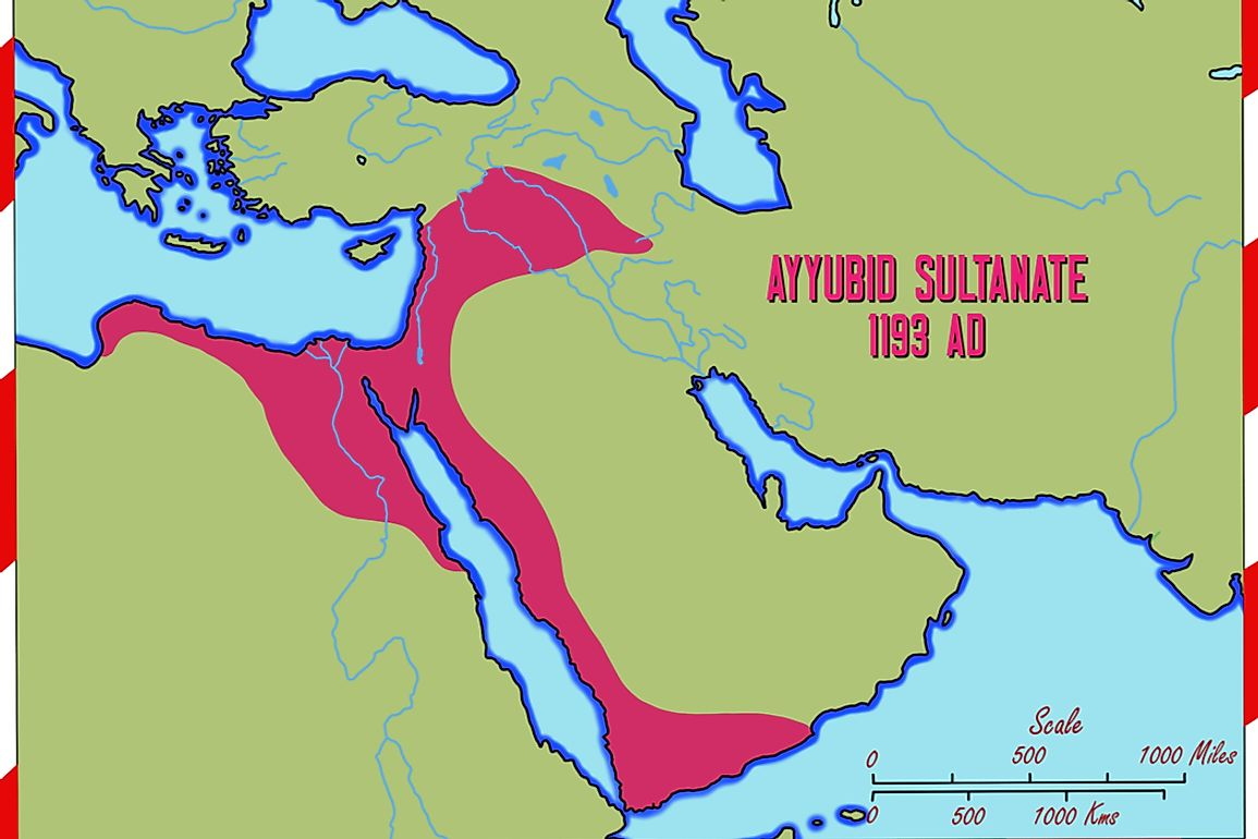 The Ayyubid sultanate existed between 1171 and 1246.