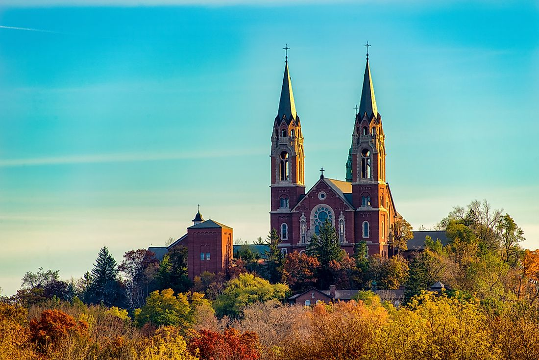 The Holy Hill National Shrine of Mary is a Roman Catholic shrine in Hubertus, Wisconsin.