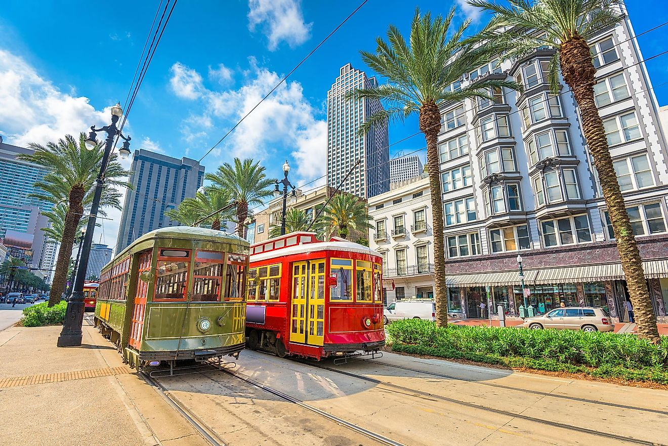 Street cars in New Orleans.