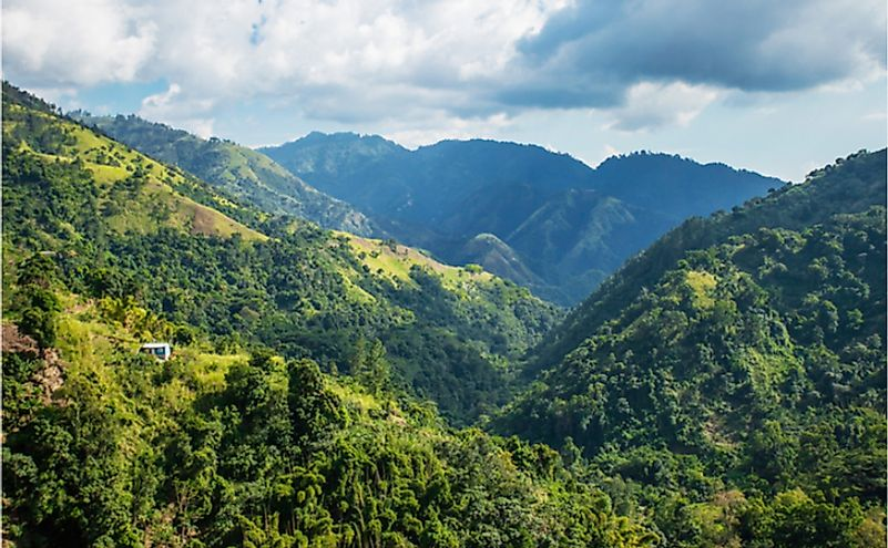 Jamaica's Blue Mountains is famous for its coffee production.