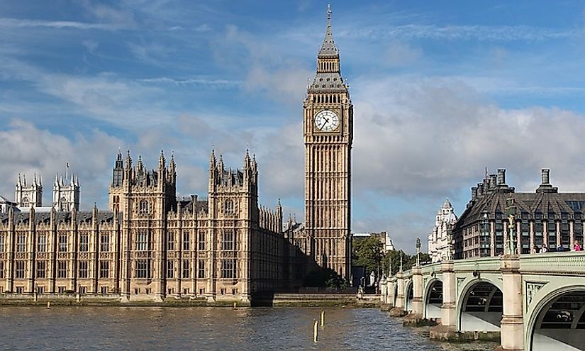 Big Ben in London is the most famous clock tower in the world.
