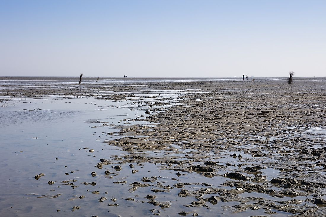 Ebb tide at Lower Saxony Wadden Sea National Park.