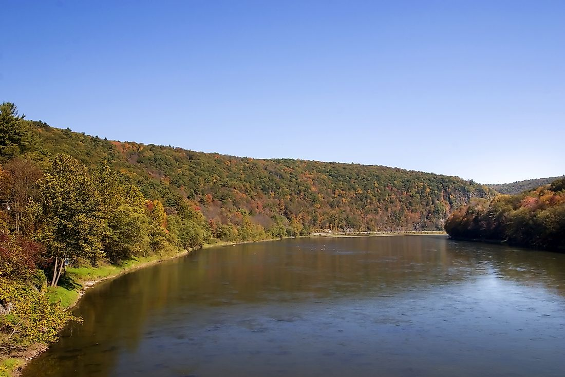 The Delaware River flows through 5 states including the state of Delaware.