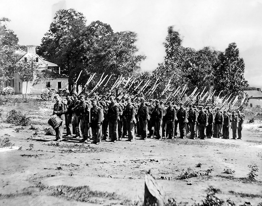 Union soldiers in the Civil War.