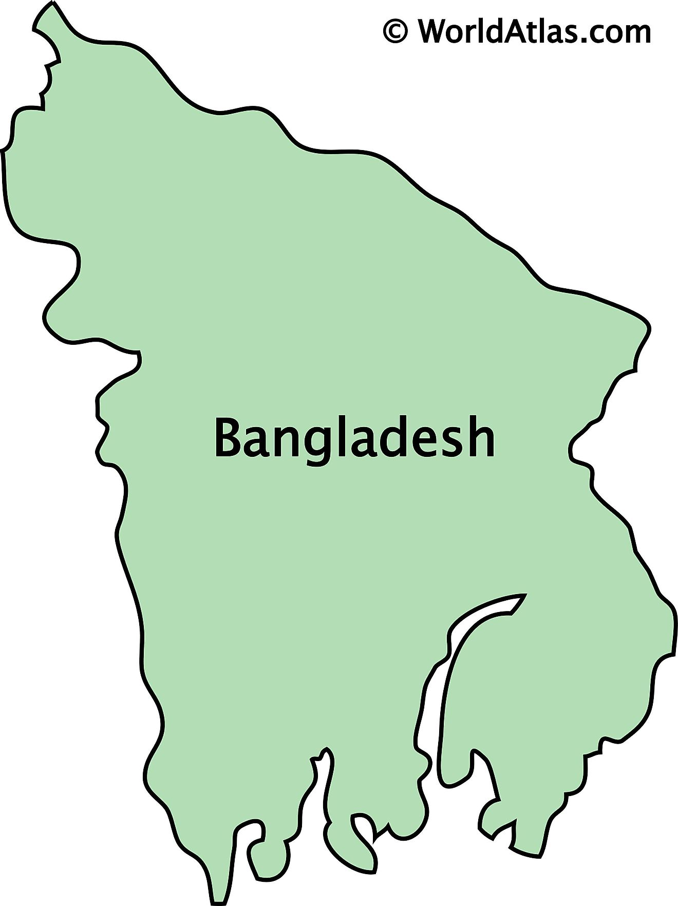 Outline Map of Bangladesh