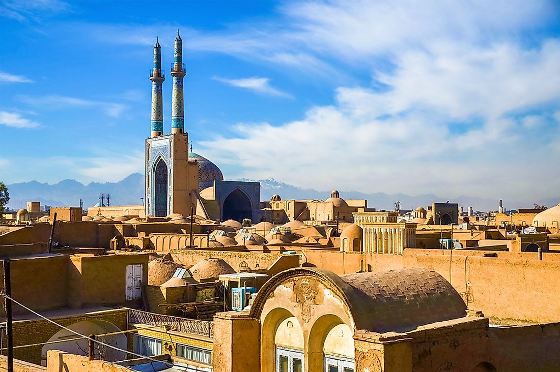 The city center of Yazd, Iran.