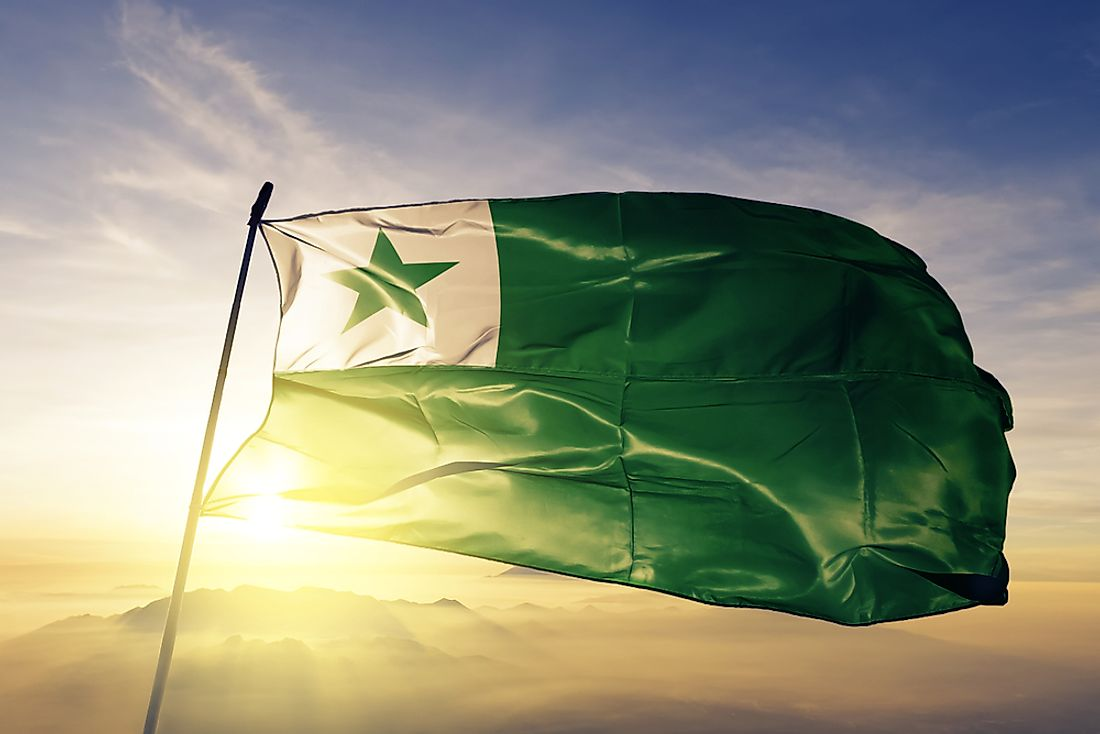 The flag of Esperanto.