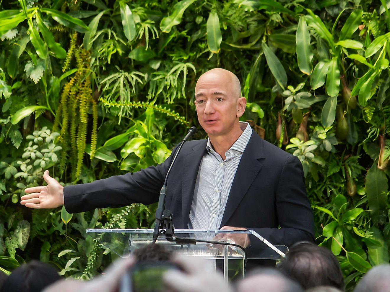 Jeff Bezos has a staggering net worth of $123.9 billion thanks to the success of Amazon. Image credit: wikimedia.org