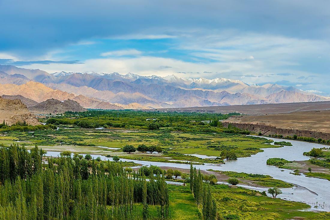 The Indus River in the Ladakh Region.