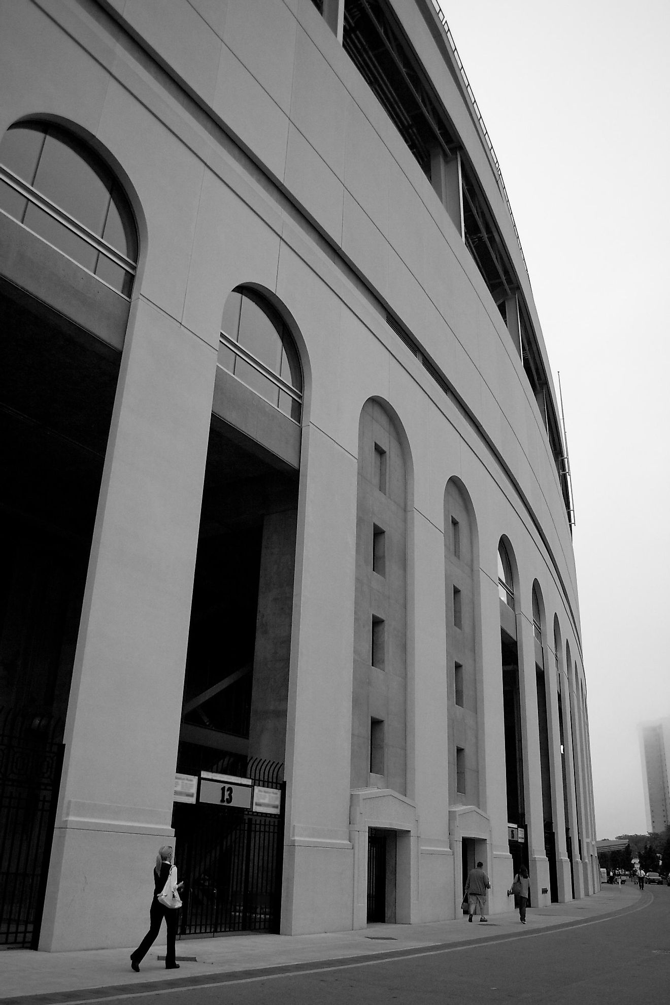 The large scale of Columbus's massive Ohio Stadium is seen in this photo.