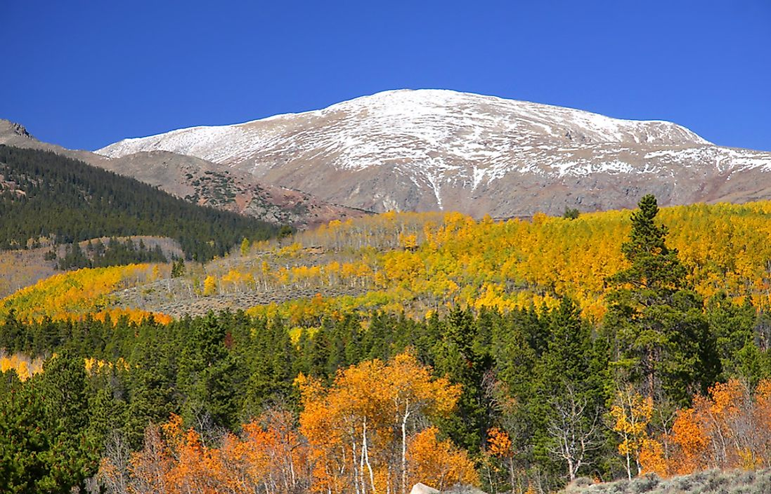 Mount Elbert in Colorado, which is one of the US Mountain States.