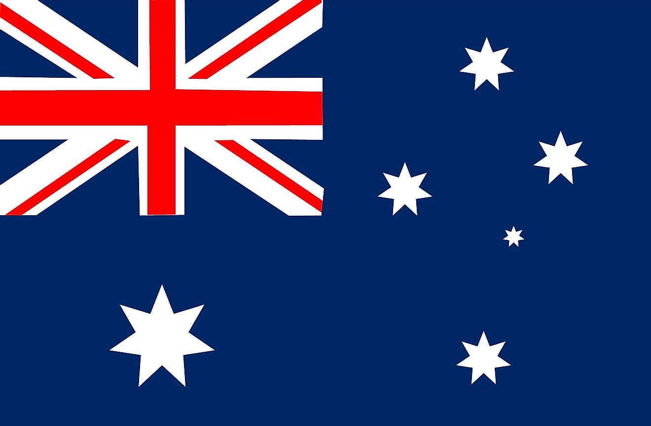 The flag of Australia features the Southern Cross.