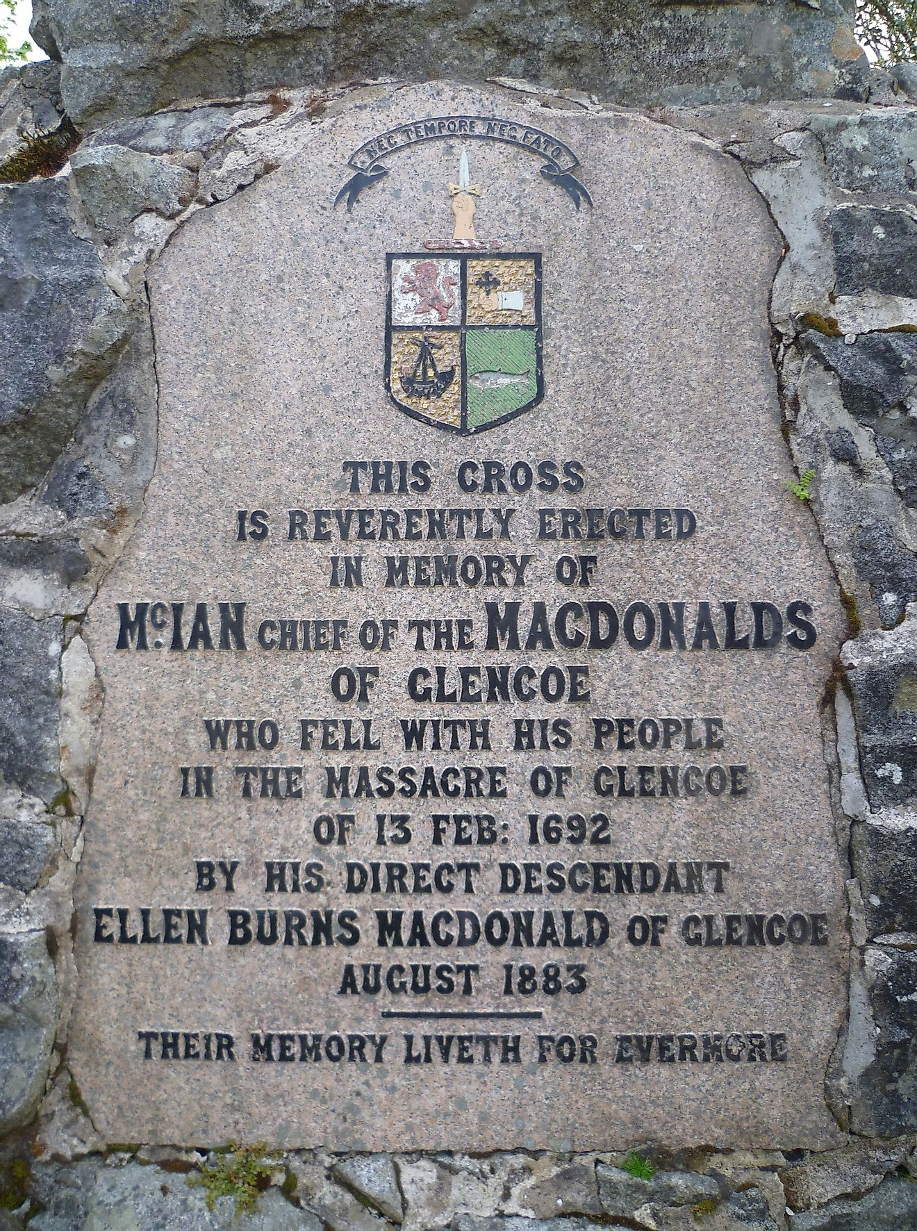 The feud started as small arguments involving cattle but culminated when the MacDonalds refused to give an oath of loyalty to the British flag in 1692. Image credit: highlandtitles.com