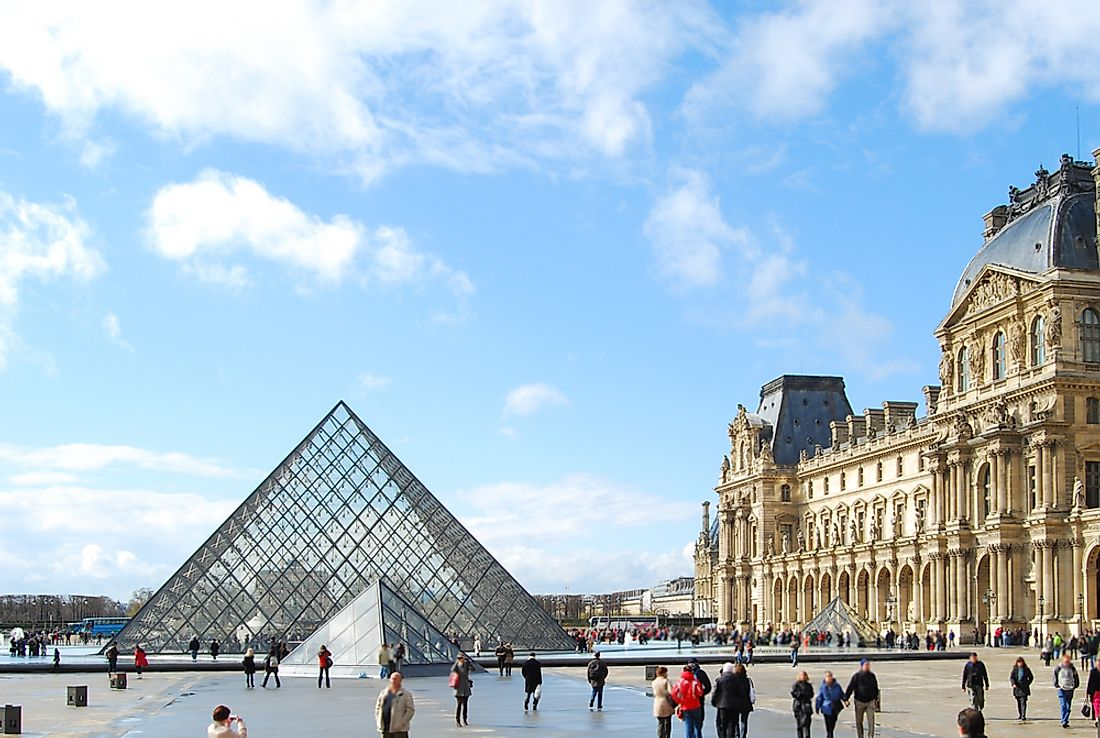 The Louvre is the most visited museum in Europe. Editorial credit: Marina Vieira Branquinho / Shutterstock.com.