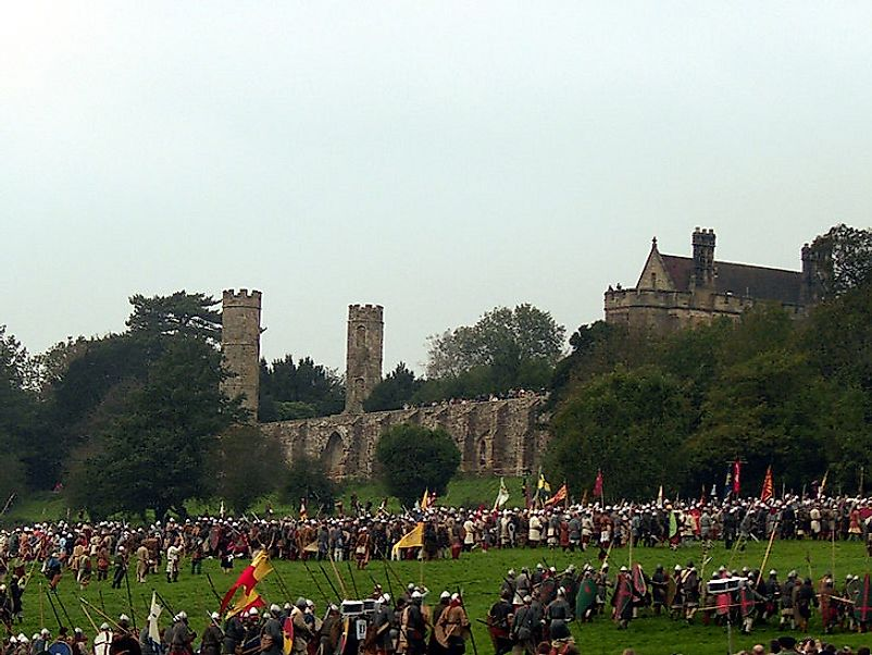 Modern Britons reenact the 11th Century Battle of Hastings which set the stage for the Norman Invasion of England.