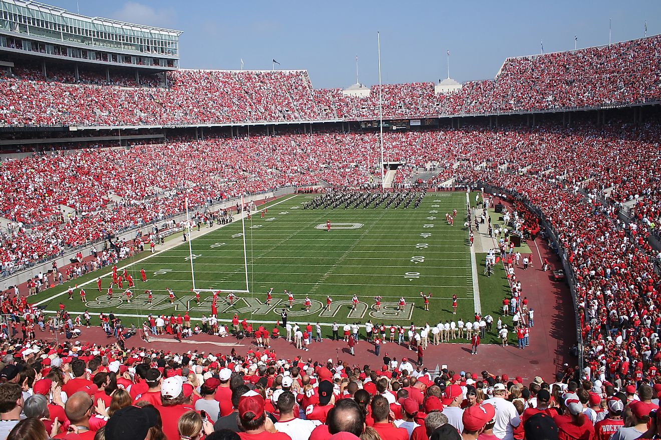 The Ohio Stadium is the world's fifth largest stadium. Editorial credit: aceshot1 / Shutterstock.com