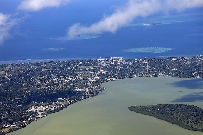 Nukuʻalofa, the capital city of Tonga, on the island of Tongatapu.