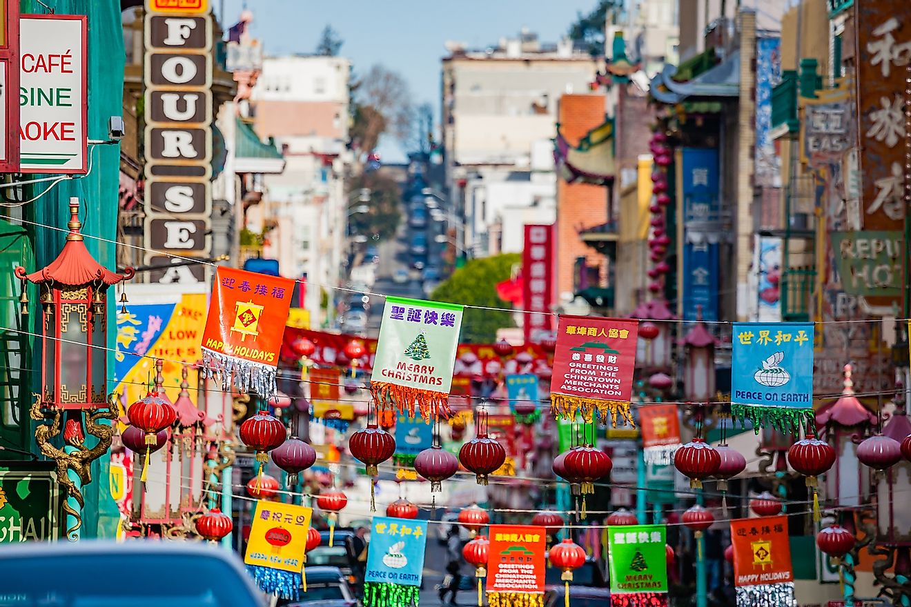 View of the main street of the San Francisco Chinatown district. Image credit: Fabio Michele Capelli/Shutterstock