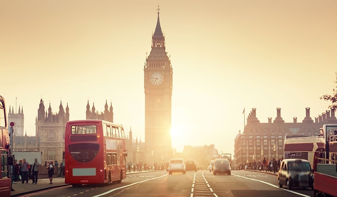 London sees millions of tourists annually.