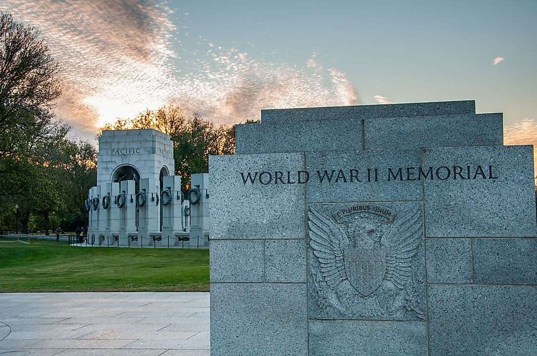 The World War II Memorial in Washington, DC.