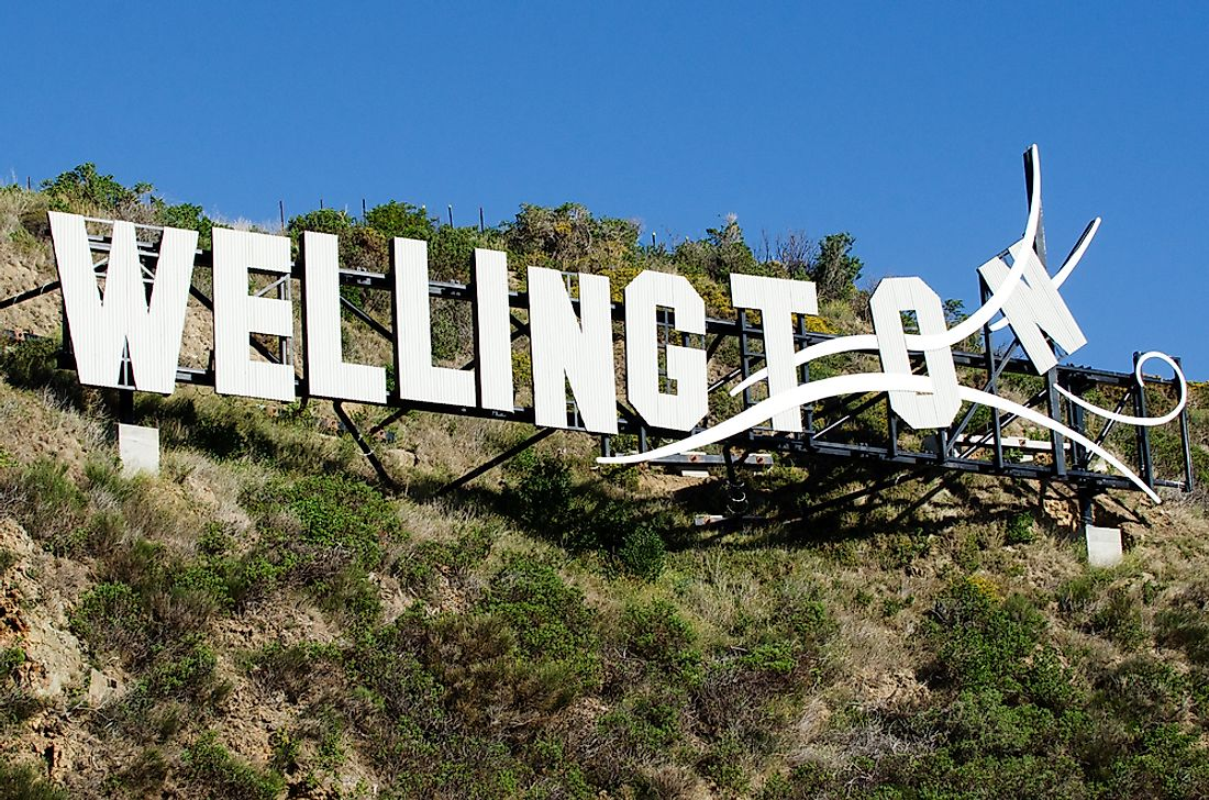 Wellington, which has a sizeable film industry, also has a sign which may draw comparisons to another famous sign.