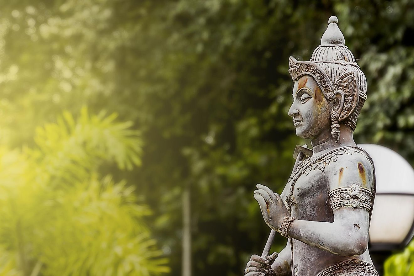 A statue of Vishnu, a prominent god in Hinduism. Image credit: GikaPhoto By waraphot/Shutterstock