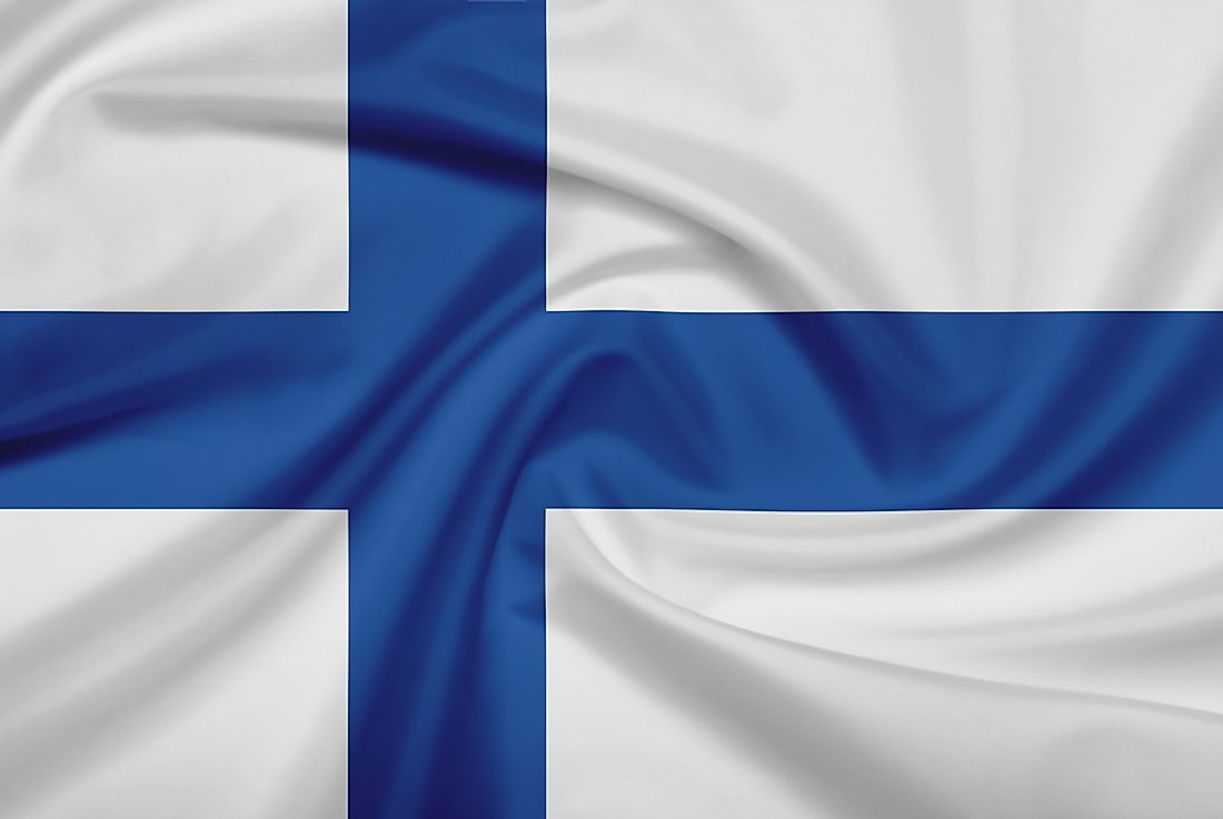 The official flag of Finland.