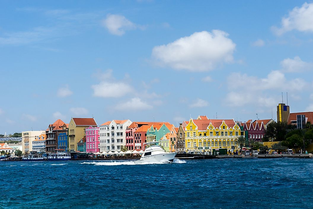 The coast of Curaçao, which is one of the three ABC islands.