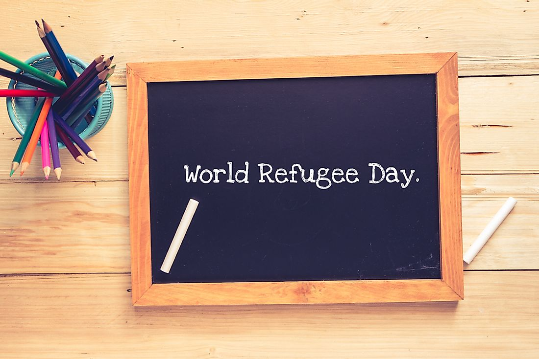 "June 20th is set aside as ""World Refugee Day""."